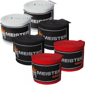 Meister Adult 180 Hand wraps for MMA & Boxing - 3 Pairs Pack